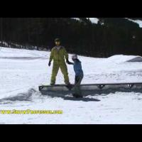 How to Snowboard Tricks: 50-50 a Funbox