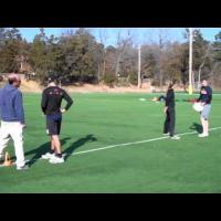 Cutting and downfield defending drill