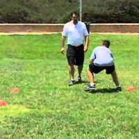 Power Step Kick Step Cone Drill