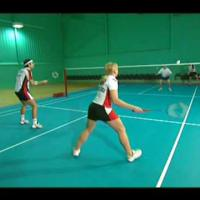 Badminton Techniques- Forehand doubles long defense