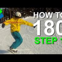 How to 180 on a Snowboard Step 1
