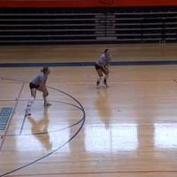 Basic volleyball moves/ footwork ( 5 ) -  Defense combo drills