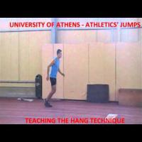 LONG JUMP TEACHING THE HANG TECHNIQUE
