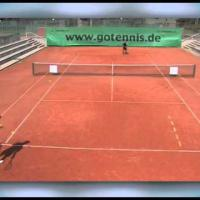tennistraining: practice your kick serve and aggressive backhand