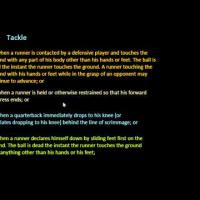 Introduction to Football: What is Tackling?