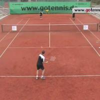 tennis training video - forehand, half volley, volley - group drill