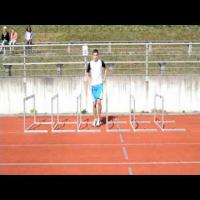 Hurdle technique with slow motion
