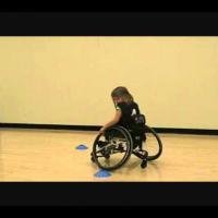 wheelchair basketball - Backward Figure 8