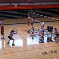 Basic volleyball moves/ footwork ( 3 ) -  Drills for Quick Side To Side Movements (2 )