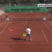 video tennis training volley techniques group drill