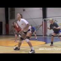 Basic volleyball moves/ footwork ( 2 ) -  Drills for Quick Side To Side Movements ( 1)