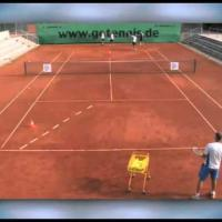 tennis group drill for basic strokes: backhand drive - backhand tops