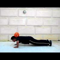 How To Catch A Ball On Your Neck And Do Pushups