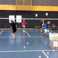 pro Court Footwork Exercise w: 4 Kids on 1 Court