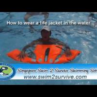 How to wear life jacket in water
