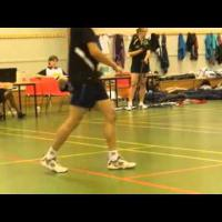Badminton footwork exercise