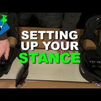 How to Set Up Snowboard Bindings / Stance