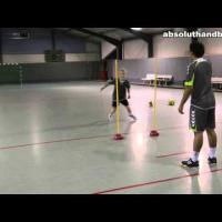 Handball pass training for two players