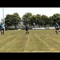 'Loop Pass' Rugby Training Drill